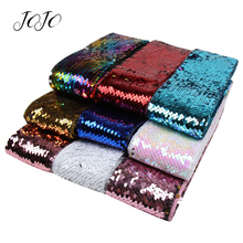 JOJO BOWS 75mm 2y Reversible Sequin Ribbon For Needlework DIY Hair Bows Home Textile Apparel Sewing Materials Craft Supplies