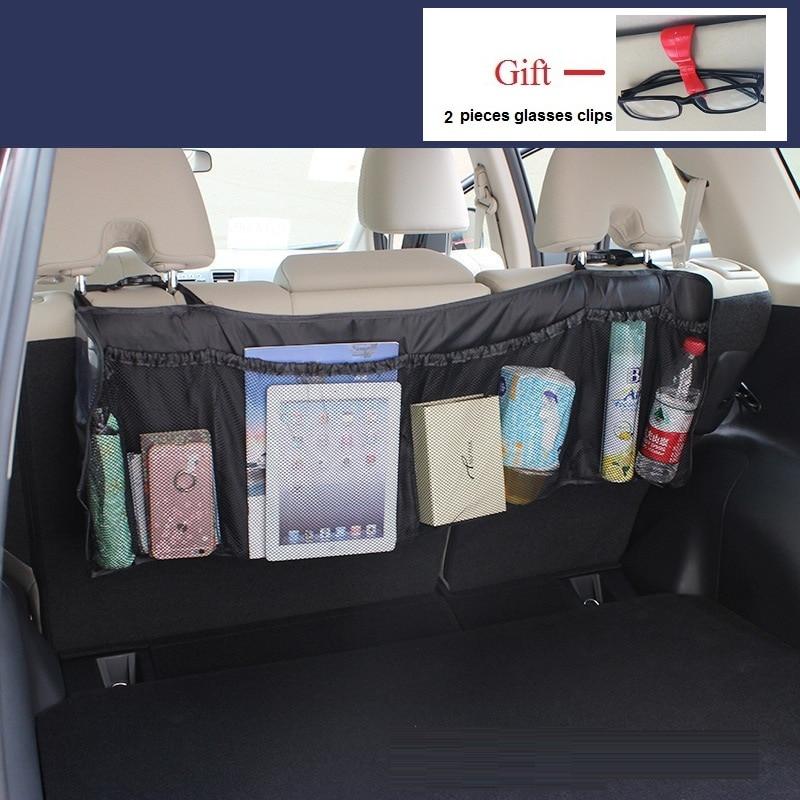 95*32cm Lengthened car pocket organizer car seat back hanging stowing tidying storage of cosmetics trash car tools trunk bag