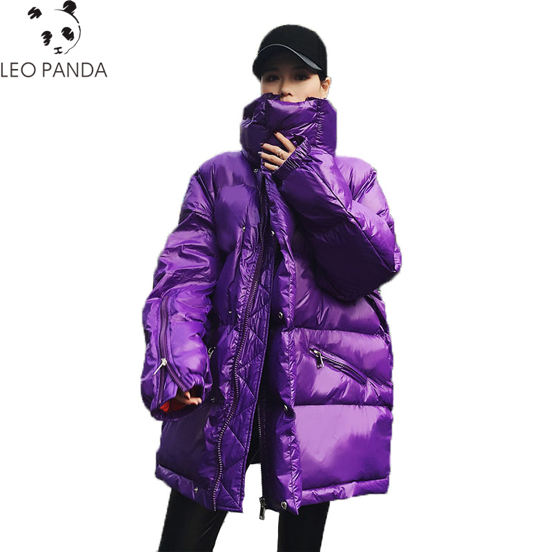 New Down Cotton Jacket 2018 Women Autumn Winter Solid Hooded Padded Loose Casual Thicken Warm parka Pockets Female Coat LCY1113