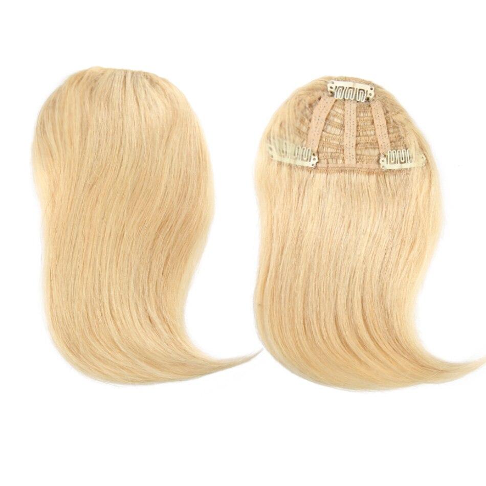 ALI SCHÖNHEIT Menschliches Haar Pony Clip In Haar Extensions Maschine Made Remy Haar Fringe Gradienten Pony Haarteil 10 Farben Können gefärbt werden