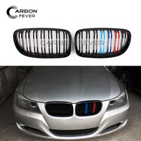 Dual Slat Racing Grille For BMW 3 Series E90 E91 316i 318i 320i 323i 325i 328i 330i 335i 2008 2011 Gloss Black M Color Grill