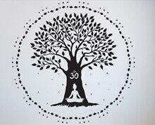 Yoga Wall Decal Quotes Namaste Decals Lotus Flower Logo Hindu Art Vinyl Sticker A7-026
