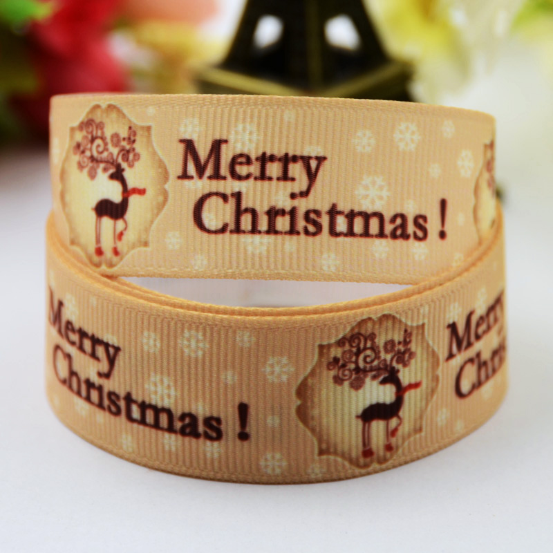 Capable 7/8 22mm Christmas Cartoon Character Printed Grosgrain Ribbon Party Decoration Satin Ribbons X-00515 Oem 10 Yards Strong Packing