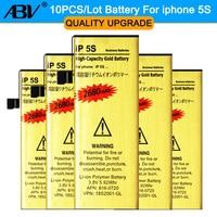 Brand New Haute Qualité en gros 10 pcs/lot pour l'iphone 5S batterie Batterie de Téléphone portable D'or pour iPhone 5S Batterie