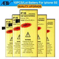 Brand New High Quality Wholesale 10pcs Lot For Iphone 5s Battery Golden Mobile Phone Battery For