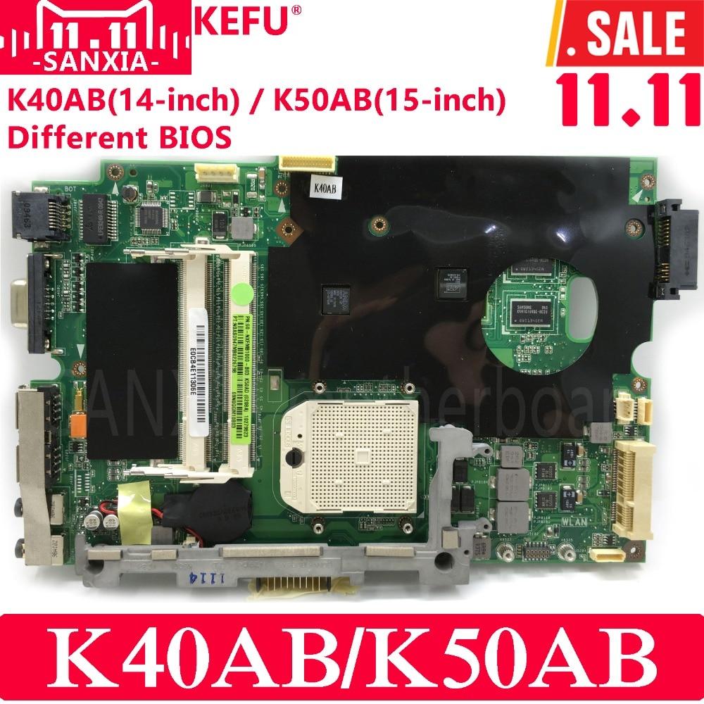 KEFU K40AB Laptop motherboard for ASUS K40AB K40AD K40AF K50AB K50AD K50AF Test original mainboard with Free CPU(CPU randomly)
