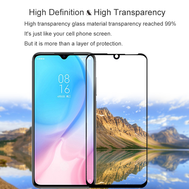 Tempered Glass For Xiaomi mi 9 se mi 8 lite Mi A3 Redmi K20 Pro Note 7 5 Plus 6 Pro 6A Full Cover Screen Protector Film 9H in Phone Screen Protectors from Cellphones Telecommunications