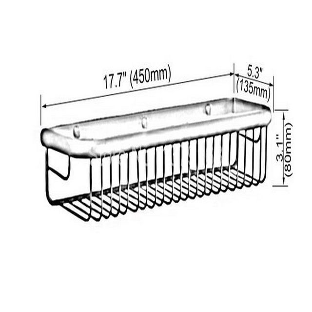 Luxury Gold Color Brass Wall Mounted Bathroom Storage Basket Bath Shower  Caddy Shelf Organiser Bathroom Fitting Aba096