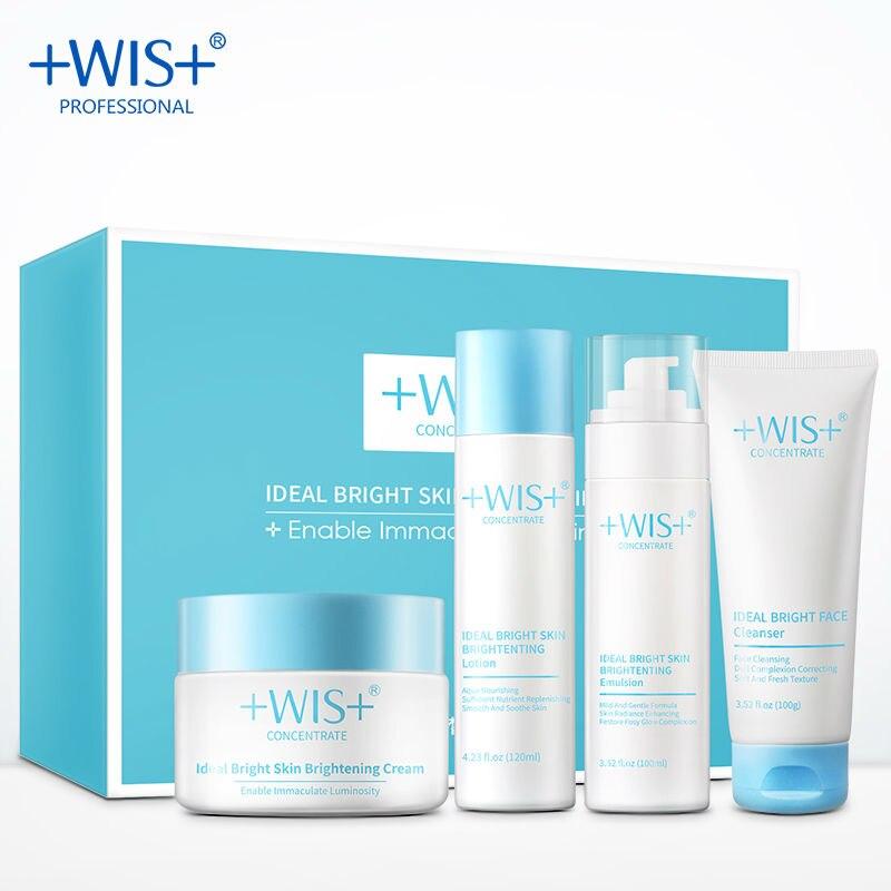 WIS Brand ideal brigh Skin set  Skin brightening Nourishing  Hydrating moisturizing skin care product free shipping