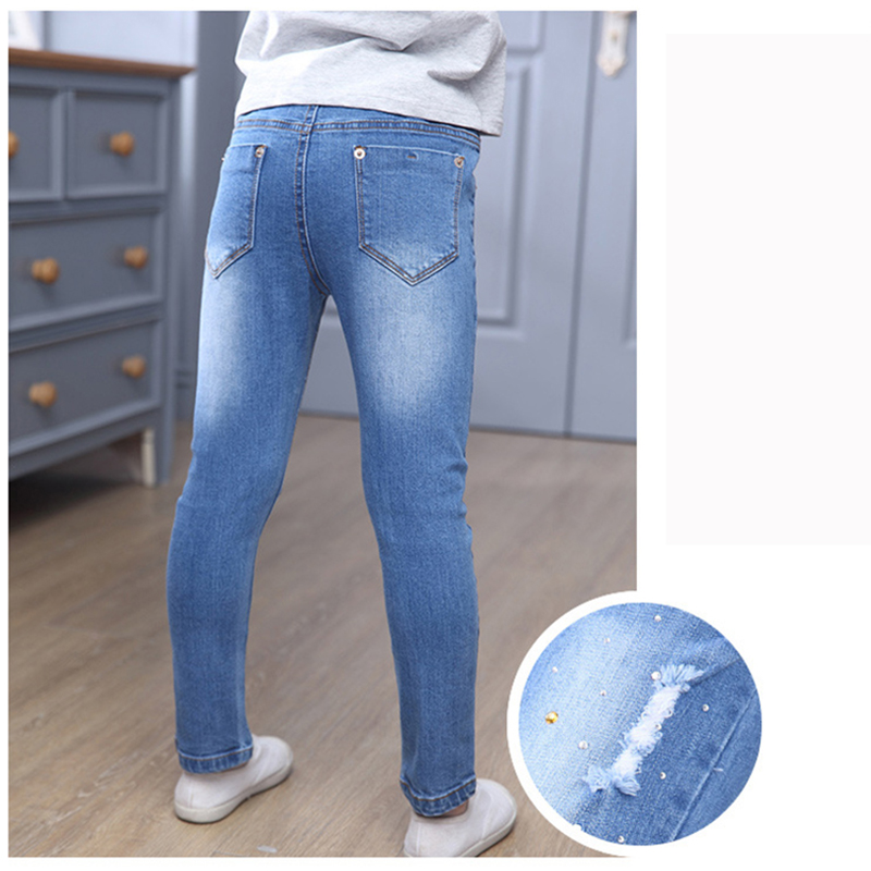New Style Girls Hole Jeans Kids Jeans Girls Trousers Autumn Fashion - Children's Clothing - Photo 4