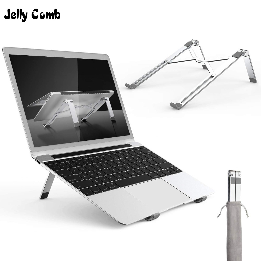 Jelly Comb Folding Portable Laptop Stand for Laptop Office Ultral Aluminum Desktop Notebook Stand for MacBook up to 15 6 inch