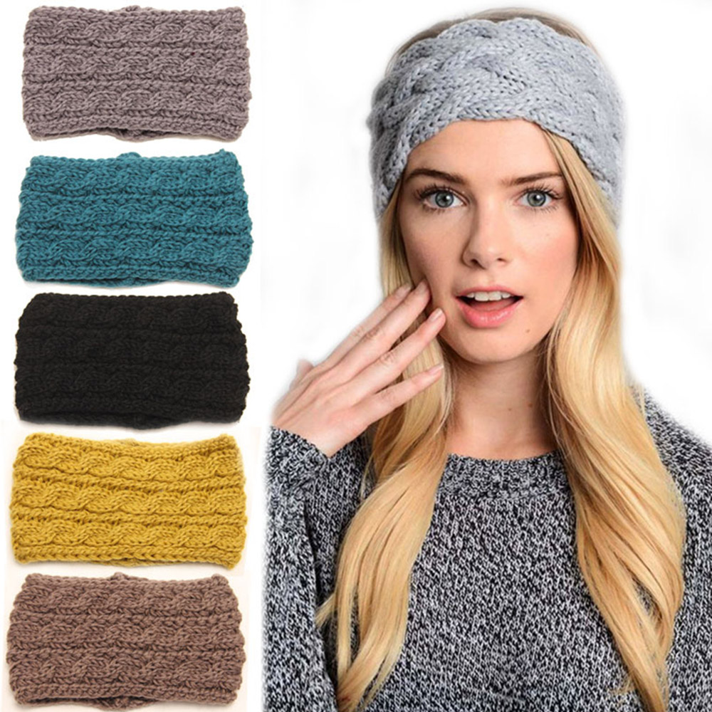 Beauty & Health Braiders Warmer Knitted Turban Headband For Women Crochet Wool Headbands Bandana Knot Headwrap Bandage Girls Hair Accessories #4 Price Remains Stable