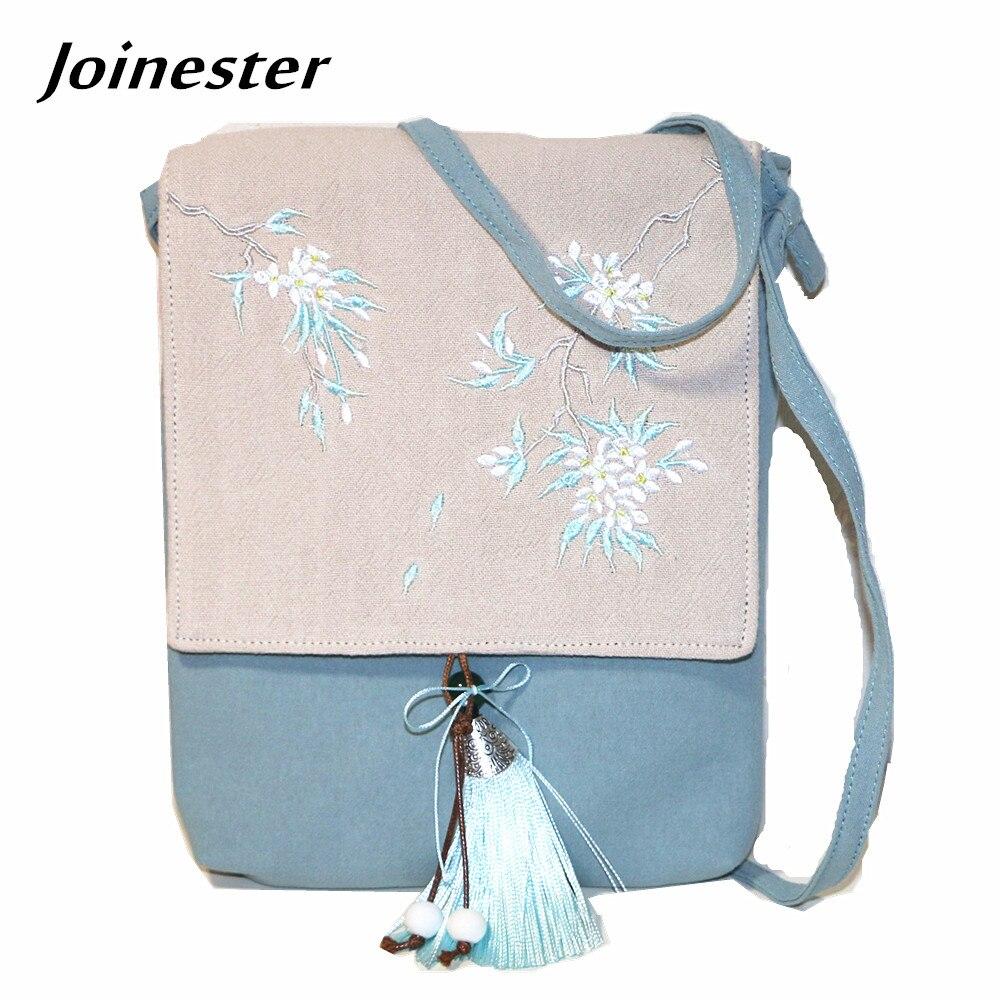 все цены на Easy Taking Women's Cute Flap Messenger Bag Cotton Fabric Floral Embroidery Cover Elegant Crossbody Bag Cellphone Purse Bag