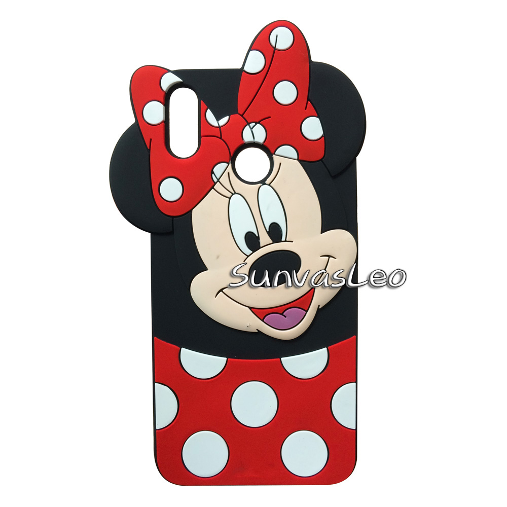 For Huawei Y9 2019 3D Soft Silicone Case Cute Cartoon Animal Cell Phone Back Cover Shell Skin Original Cases For Huawei Honor 8X