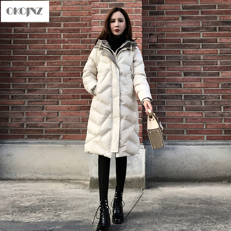 Chaud Femmes Vêtement Épais D'extérieur Serviette White Creamy Parka D'hiver Lâche 2018 Section black Manteau Bas Le Nouvelle Yy167 Vers Coton Femelle En Droite Longue Pour 4nUq8RT