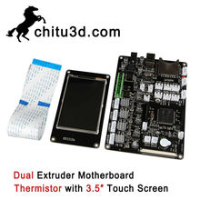 CBD Chitu 3D Printer Motherboard Chitu V3.6 dual Extruder Motherboard Thermistor with 3.5″ Touch Screen Support WiFi APP Control