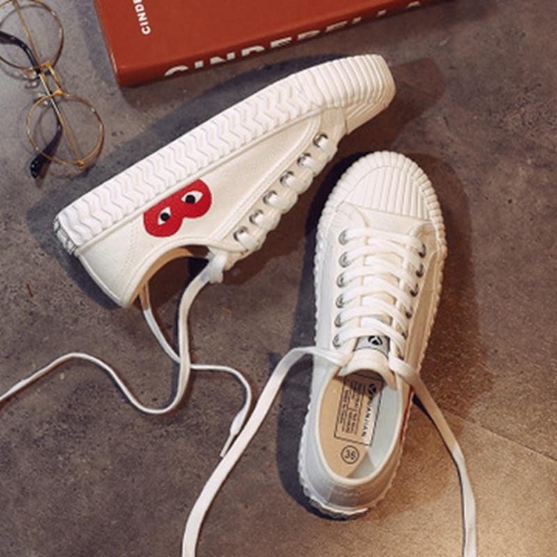 Couleur Femmes Sauvage Mode Rue Harajuku Biscuit Chaussures De Solide Noir Toile Chaussures 2018 Nouvelles qC5Rgg