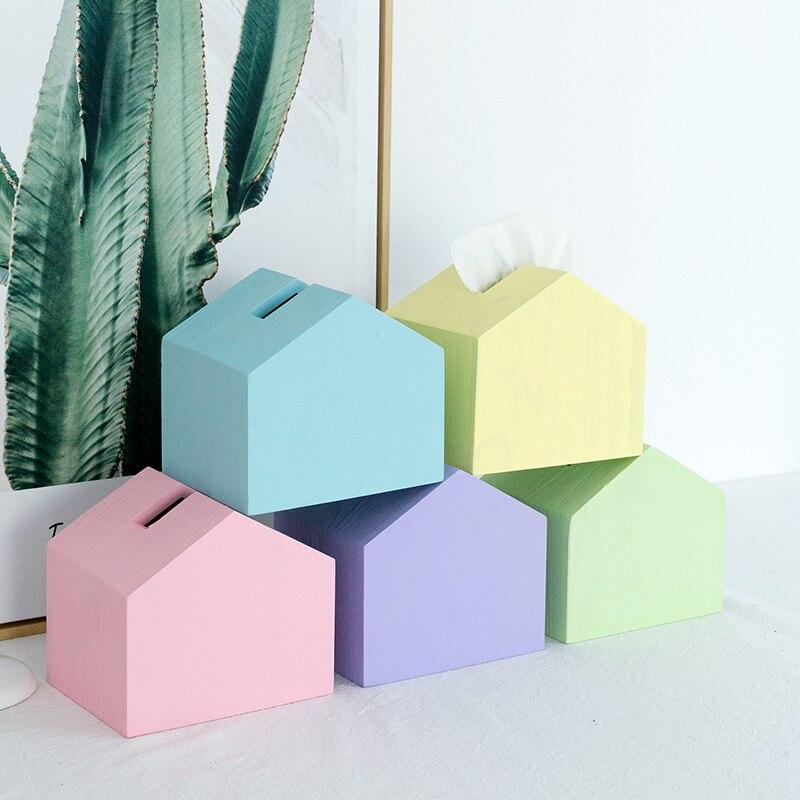 Sweetgo Kleurrijke Tissue Doos Cake Tafel Decoratie Make Storage 14 Cm Achtergrond Landschap