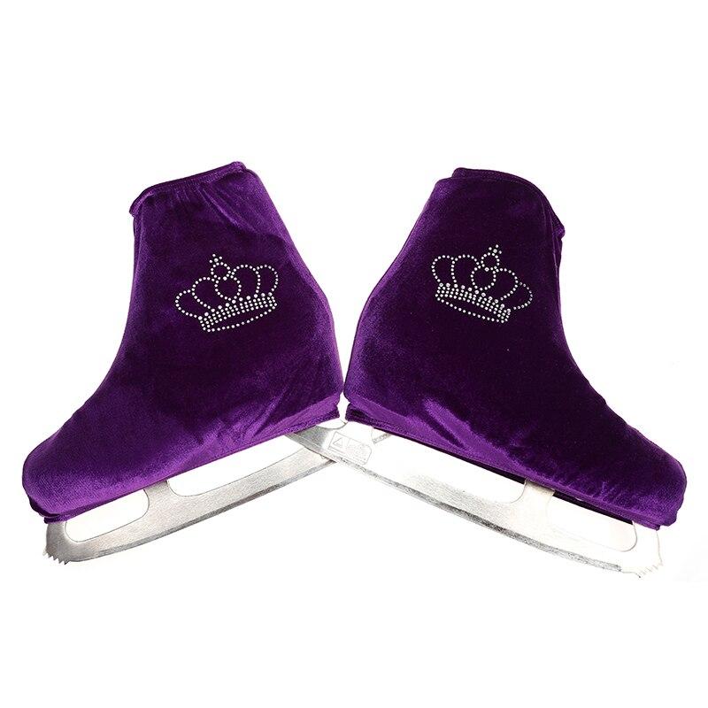 Nasinaya Figure Skating Shoes Cover Velvet For Kids Adult Protective Roller Skate Ice Skating Accessories Shiny Rhinestones 12