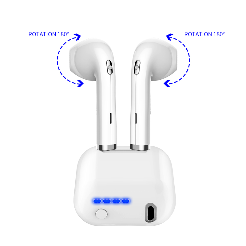 Wireless headset with microphone waterproof sport headphones for running In-ear Earphone for iPhone Dual Mode Bluetooth V4.2