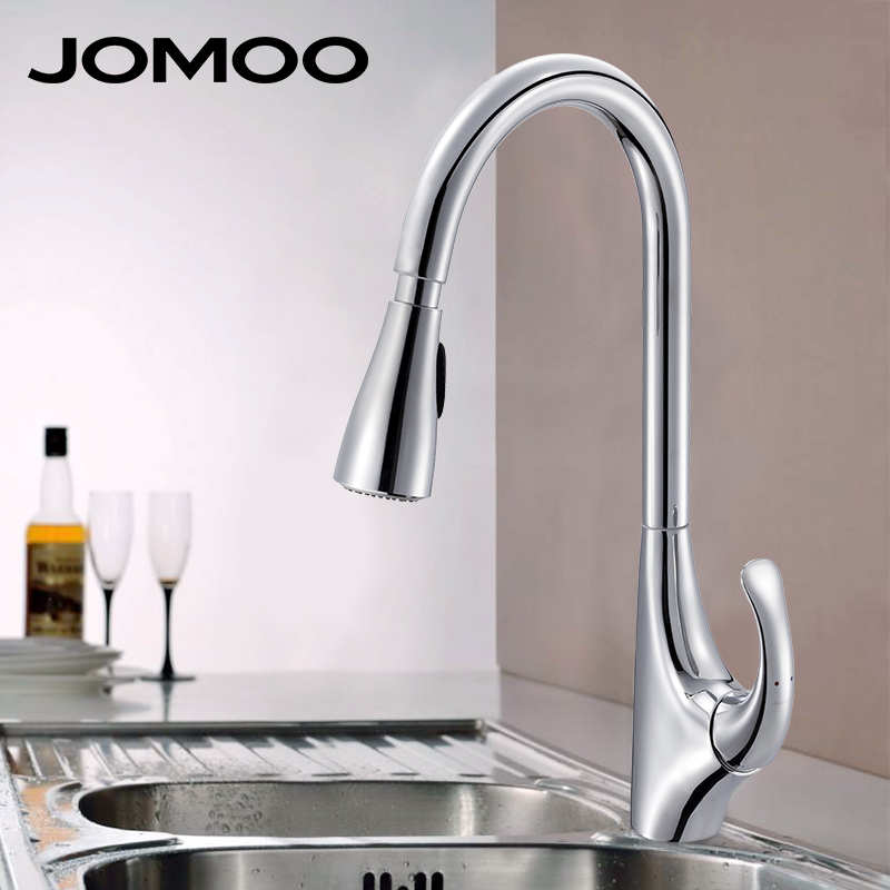 Jomoo kitchen faucet mixer tap spray pull down sink faucet kitchen high end brand design 33083 Design house kitchen faucets reviews