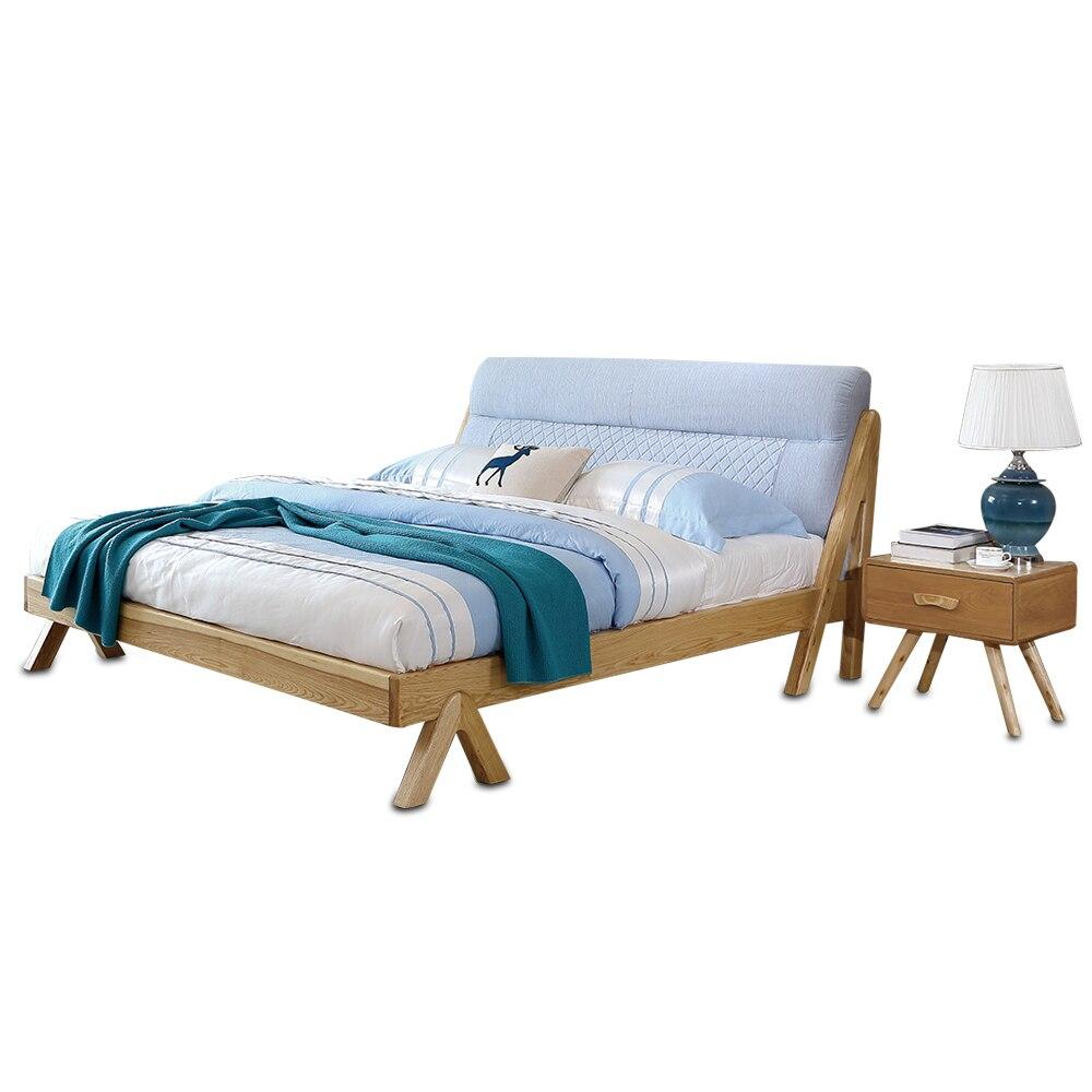 1122H3011 Original Nordic style Modern minimalist wedding king size All solid wood large bed frame smoby детская горка king size цвет красный