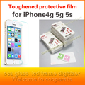 10 unids/lote 4S película protectora de vidrio en el para iPhone4 5 5S SÍ Premium Protector de Pantalla de Cristal Templado Para iPhone5 HD templado
