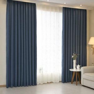 Cortinas de Hotel, cortinas opacas para sala de estar, color sólido, tratamientos de ventanas para el hogar, cortinas de habitación moderna, a la venta, un solo Panel