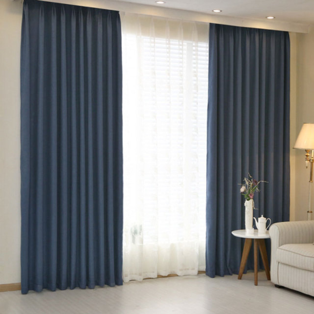 Hotel Curtains Blackout Living Room Solid Color Home Window Treatments Modern Bedroom Drapes For Sale