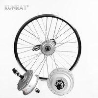 E велосипед 36 В в 250 Вт 26 дюймов заднего колеса комплект конверсионный комплект, бесщеточный мотор концентратор с ободом, электрический вело