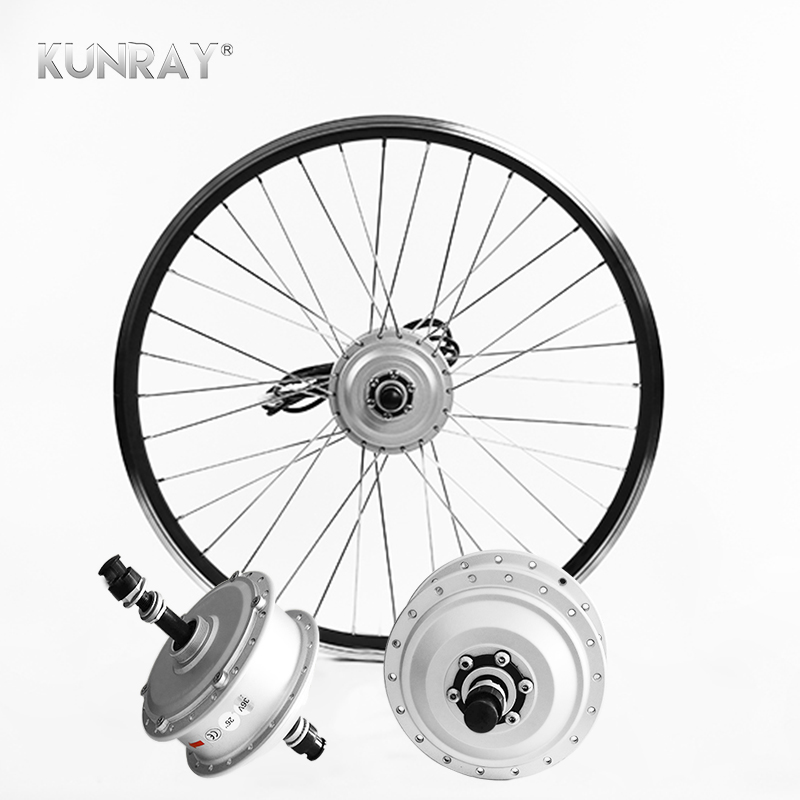 E Bike 36V 250W 26 inch Rear Wheel Kit Conversion Kit, Brushless Gear Hub Motor With Rim, Electric Bicycle MTB Road Bike Motor