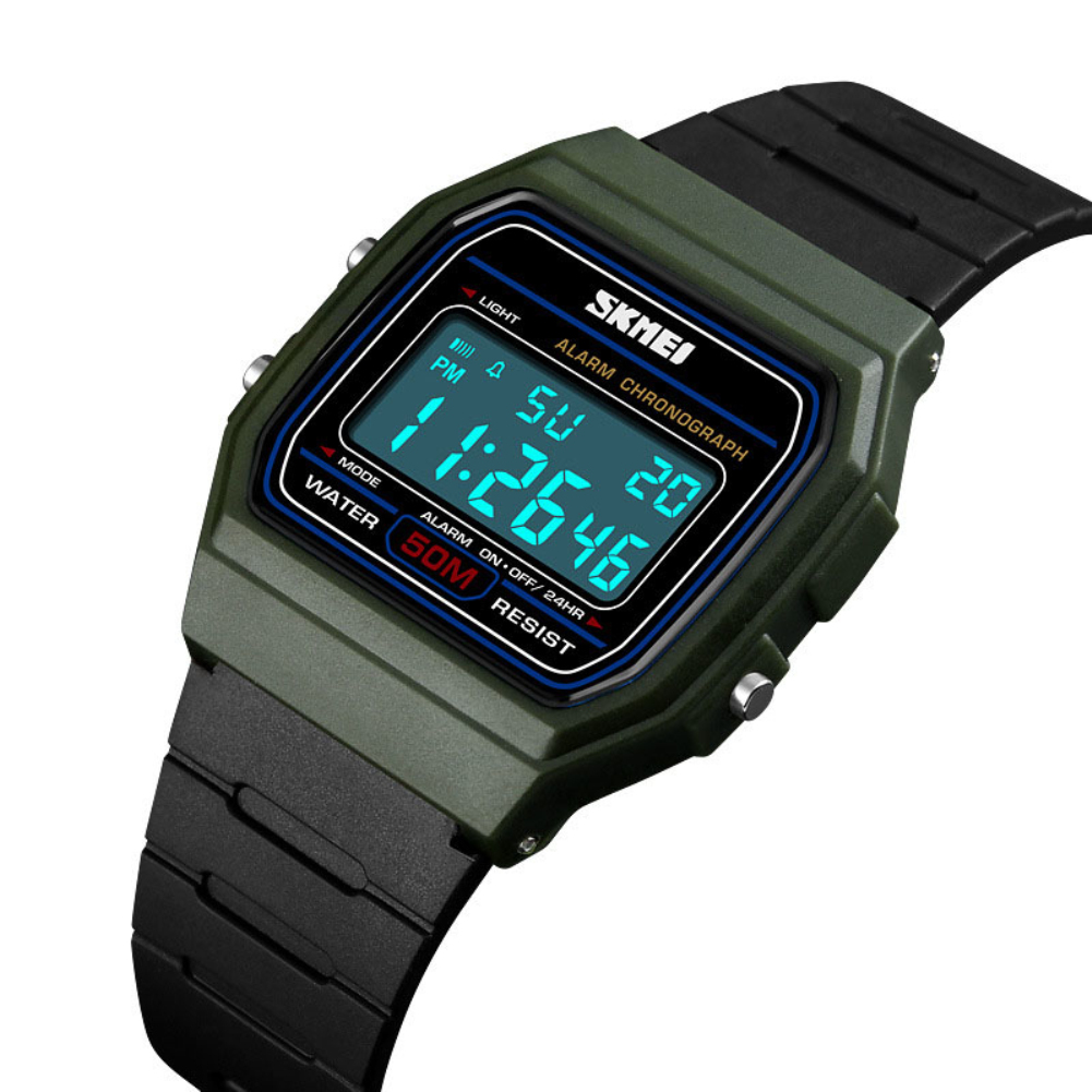 SKMEI 1412 New Fashion Student Luminous Sports Casual Unisex Digital Date Alarm Couple Watch