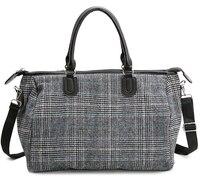 New Korean Style Fashion Plaid Female Travel Bag Portable Large Capacity Luggage Bag Hot Duffle bag Casual Handbag C255