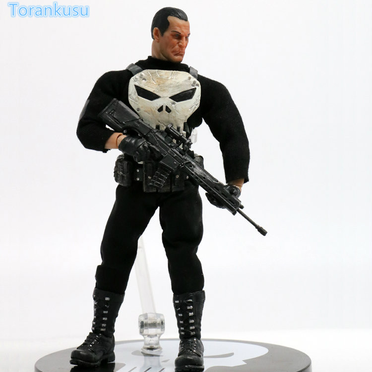 The Punisher Action Figure Frank Castle PVC Figure Toy Anime Punisher Superhero Toys Figurine Collectible Model Doll hot toy juguetes 7 oliver jonas queen green arrow superheros joints doll action figure collectible pvc model toy for gifts