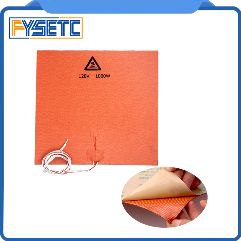 1PC Silicone Heater Pad 400x400mm 120V 1000W For Creality CR-10 S4 3D Printer Bed  Adhesive Backing1PC Silicone Heater Pad 400x400mm 120V 1000W For Creality CR-10 S4 3D Printer Bed  Adhesive Backing
