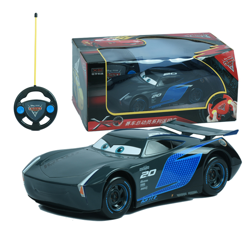 Disney Pixar Cars 3 RC Cars Lighting McQueen Jackson Storm Remote Control Plastic Model Car Kids Christmas Toys Gifts For Boys