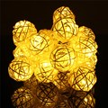2.2M 0.06W 20 LED String Light Colorful Rattan Ball led Fairy Lamp Battery Operated Christmas Wedding Party Decoration DC4.5V