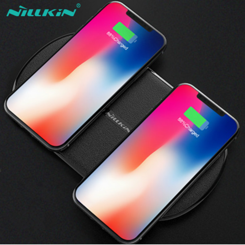 NILLKIN Rapide Sans Fil De Charge Pad Pour Samsung Galaxy S9 S8 Plus Note 8 9 2 dans 1 QI Sans Fil Chargeur 10 w Rapide Chargeur Pour iPhone