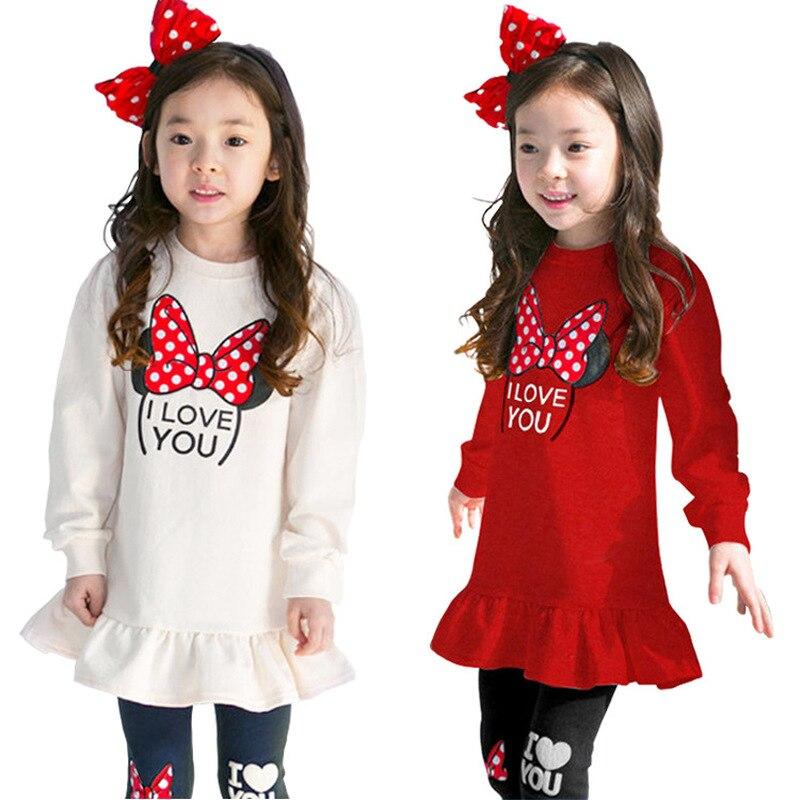 3 4 5 6 7 8 ano meninas roupas novas dos desenhos animados algodão crianças conjunto de roupas manga longa camisas legging 2 pçs ternos para meninas