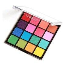 16 цветов/набор профессиональные женские тени для век макияж Косметическая пудра водостойкая стойкая Дымчатая палитра теней для век инструмент для макияжа
