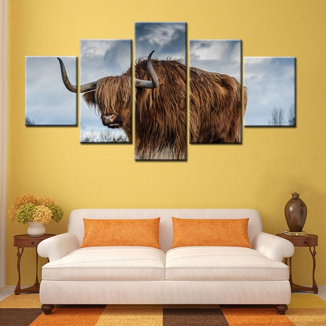 Customized Cool Wild Yak Animals Picture Modular High Quality Poster ...