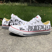 623ff7572958 Low Top White Converse All Star Pierce The Veil Design Custom Hand Painted  Shoes Woman Man Sneakers Men Women Birthday Gifts