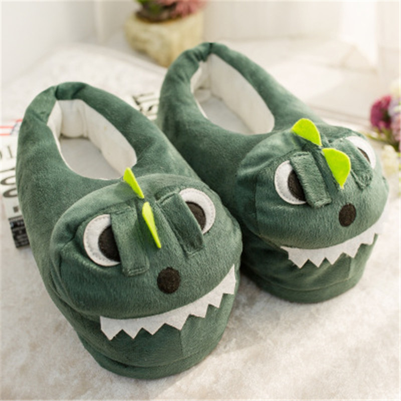 Mvp Boy White Pink Pig Animal Prints Cotton Home Slippers Playful Plush Winter Indoor Shoes Men Slippers Shoes Green Black Pink