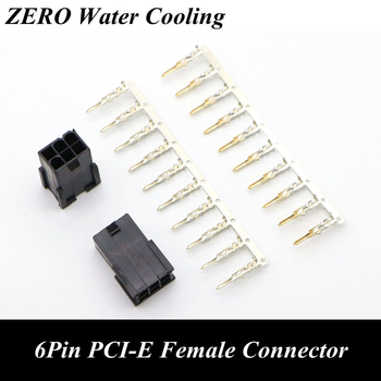 4.2mm 5559 GPU 6Pin PCI-E Female Connector with 6pcs Terminal pins for PC Modding. image