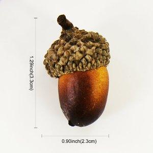 Image 5 - 20個3.3 × 2.3センチメートル人工シミュレーション小さなどんぐり植物結婚式の装飾偽のフルーツクリスマス家の装飾の写真の小道具