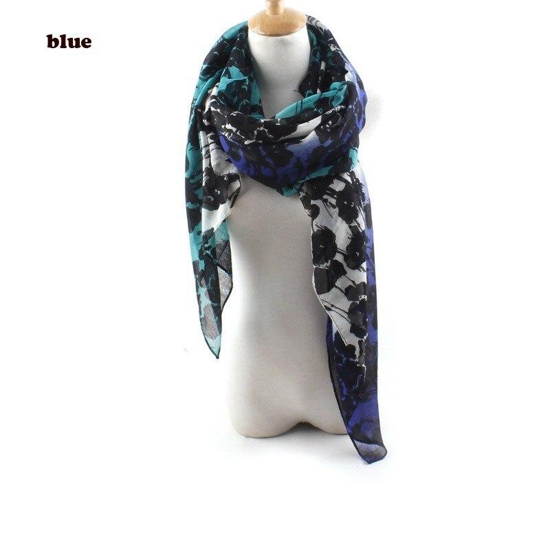 Новейший Омбре цветочный принт три цвета тон шарф женский цветочный хлопковый шарф 5 цветов 10 шт./партия