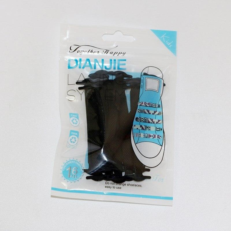 16st / set Unisex Fashion Silicone Lata Shoelaces Elastic Shoelace No - Sko tillbehör - Foto 2