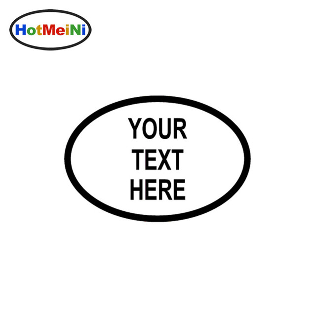 Hotmeini personalised custom oval jdm reflective vinyl sticker your name lettering car truck bumper decal motocross
