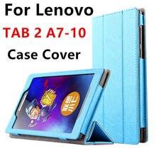Case para lenovo tab 2 a7-10 smart cubierta protectora de cuero de imitación pc de la tableta para lenovo tab2 a7-10f 7 pulgadas pu protector de la manga case