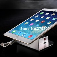 10 pcs/lot tablet secuirty display ipad alarm stand samsung tablet anti theft device blurglar alarm system for retail shop